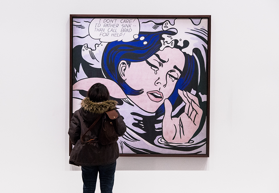 Paris, Fondation Louis Vuitton, MOMA, Roy Lichtenstein, Drowning Girl