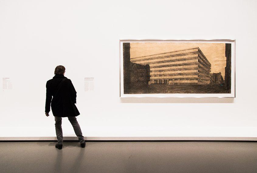 Paris, Fondation Louis Vuitton, MOMA, Ludwig Mies van der Rohe Concrete Office Building Project, Berlin
