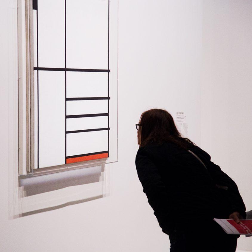 Paris, Fondation Louis Vuitton, MOMA, Piet Mondrian, Composition in White, Black, and Red