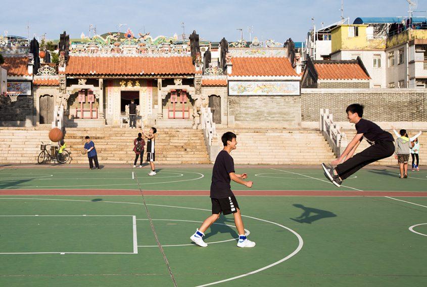 Fabian Fröhlich, Hongkong, Cheung Chau, Pak Tai Temple Playground