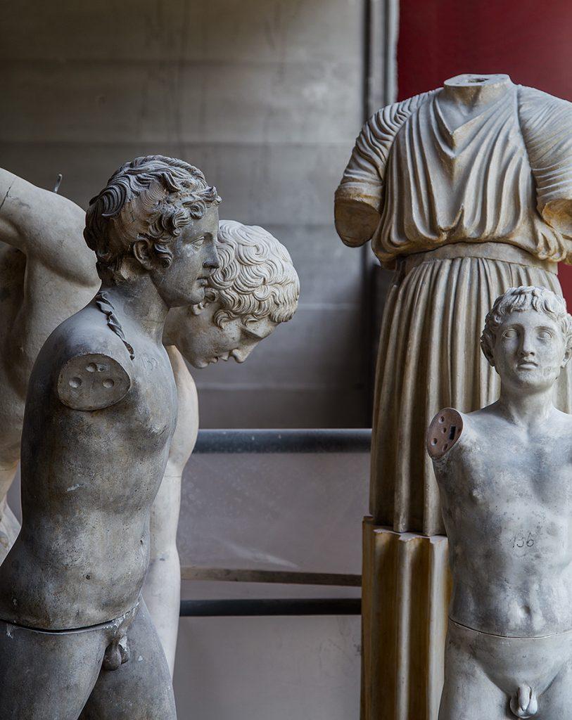 Fabian Fröhlich, Berlin, Gipsformerei, Antike Athleten