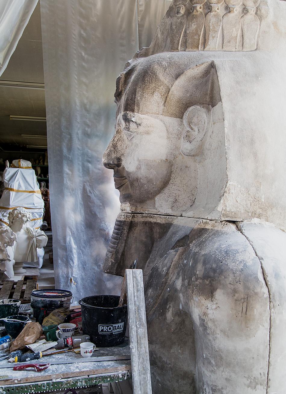 Fabian Fröhlich, Berlin, Gipsformerei, Ramses II