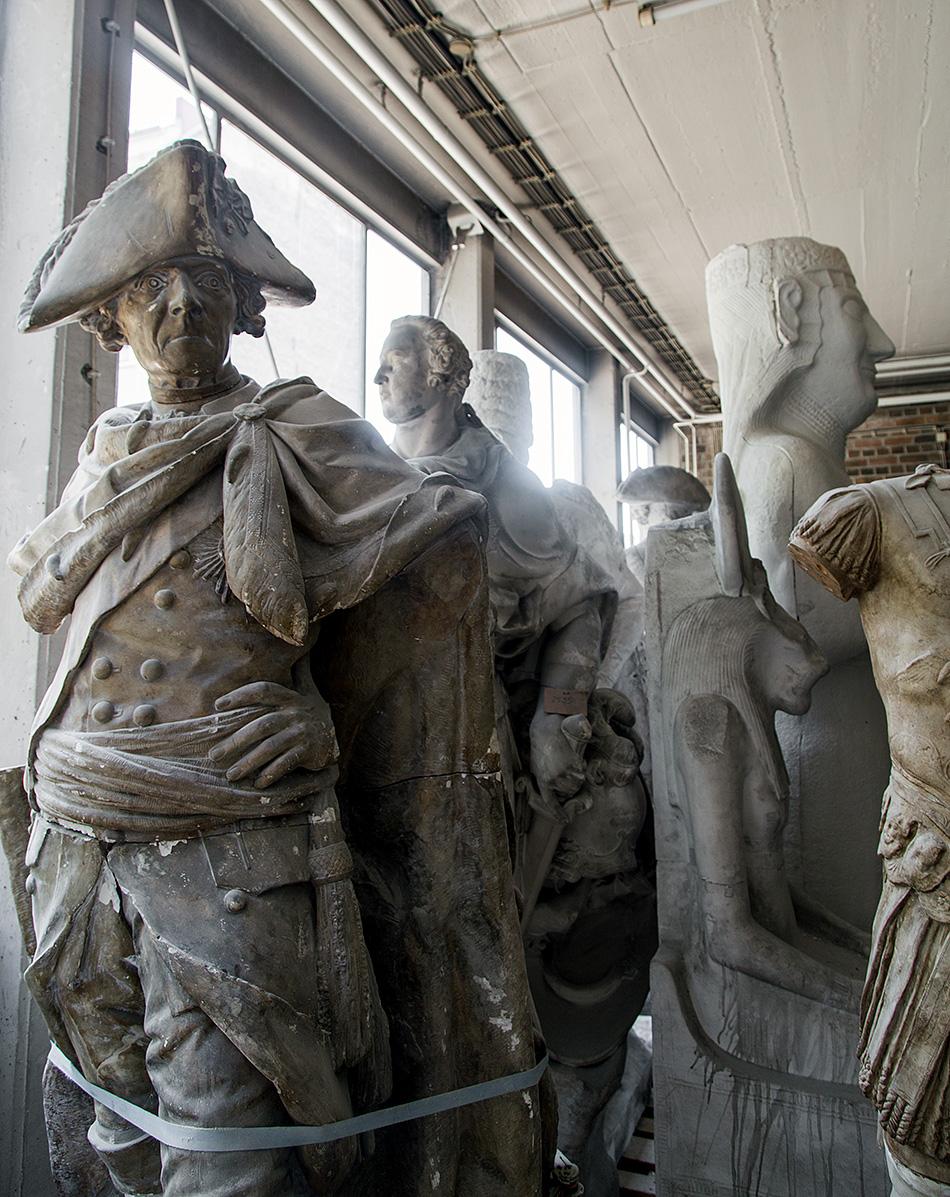 Fabian Fröhlich, Berlin, Gipsformerei, Friedrich der Große