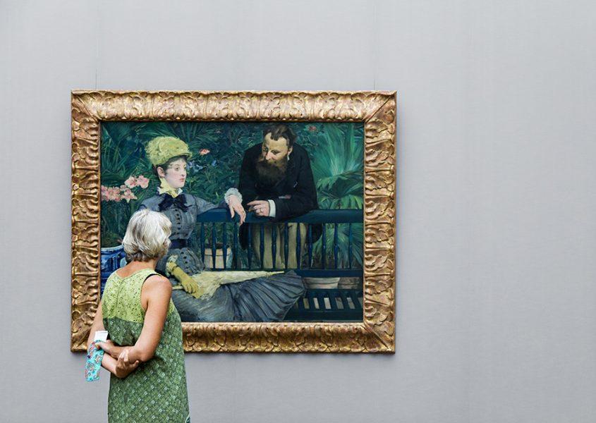 Fabian Fröhlich, Alte Nationalgalerie, Édouard Manet, Im Wintergarten