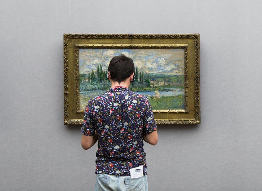 Fabian Fröhlich, Alte Nationalgalerie, Claude Monet, Ansicht von Vétheuil