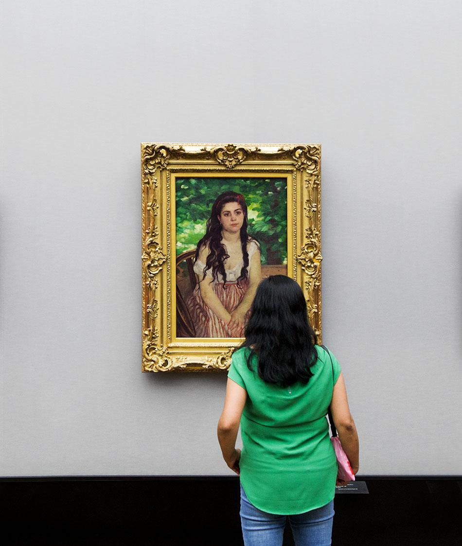 Fabian Fröhlich, Alte Nationalgalerie, Pierre-Auguste Renoir, Im Sommer