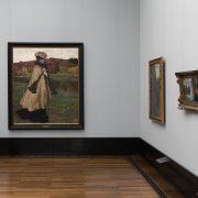 Fabian Fröhlich, Alte Nationalgalerie, Wanderlust, Robert Weise Dame in einer Herbstlandschaft