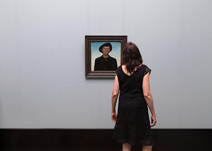Fabian Fröhlich, Alte Nationalgalerie, Wanderlust, Otto Dix, Selbstbildnis mit Wanderhut