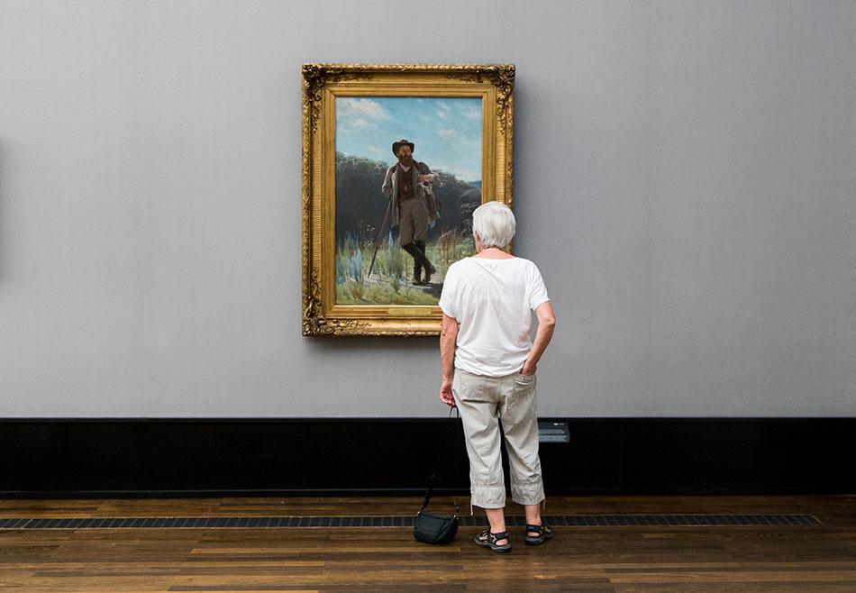 Fabian Fröhlich, Alte Nationalgalerie, Wanderlust, Iwan Nikolajewitsch Kramskoi, Porträt Iwan Schischkin
