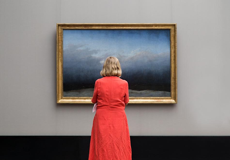 Fabian Fröhlich, Alte Nationalgalerie, Wanderlust, Caspar David Friedrich, Der Mönch am Meer