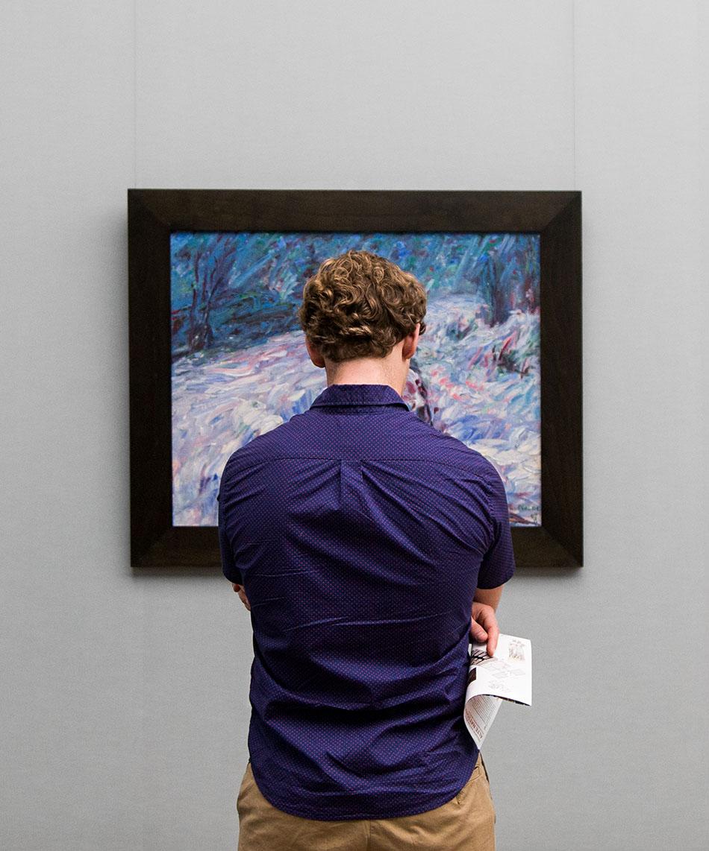 Fabian Fröhlich, Alte Nationalgalerie, Wanderlust, Emil Nolde, Winter