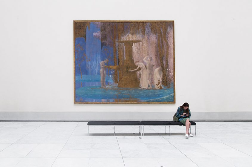 Fabian Fröhlich, Brüssel, Royal Museums of Fine Arts of Belgium, Constant Montald, Der Brunnen der Inspiration