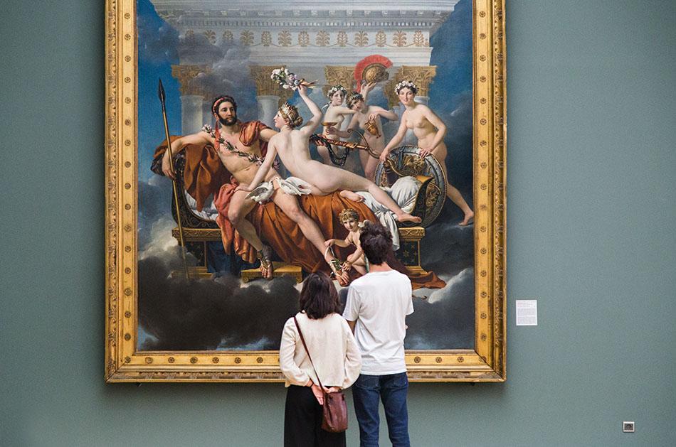 Fabian Fröhlich, Brüssel, Royal Museums of Fine Arts of Belgium, Jacques-Louis David, Mars entwaffnet von Venus und den drei Grazien