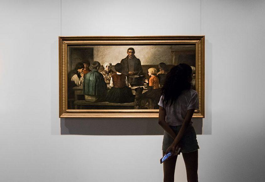 Fabian Fröhlich, Brüssel, Royal Museums of Fine Arts of Belgium, Charles de Groux, Saying Grace