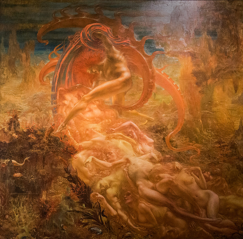 Fabian Fröhlich, Brüssel, Royal Museums of Fine Arts of Belgium, Jean Delville, The Treasures of Satan.