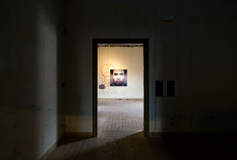 "Fabian Fröhlich, Palermo, Manifesta 12, Palazzo Ajutamicristo (""Fanon"" (Even the Dead Are Not Safe), Eigenface)"