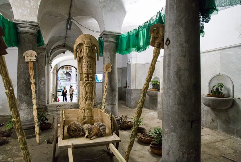 Fabian Fröhlich, Palermo, Manifesta 12, Palazzo Costantino (Jelili Atiku (Festino della Terra (Alaraagbo XIII))