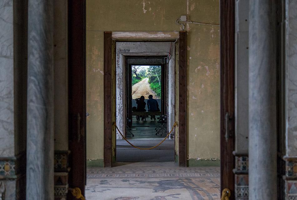 Fabian Fröhlich, Palermo, Manifesta 12, Palazzo Forcella De Seta (Laura Poitras, Signal Flow)