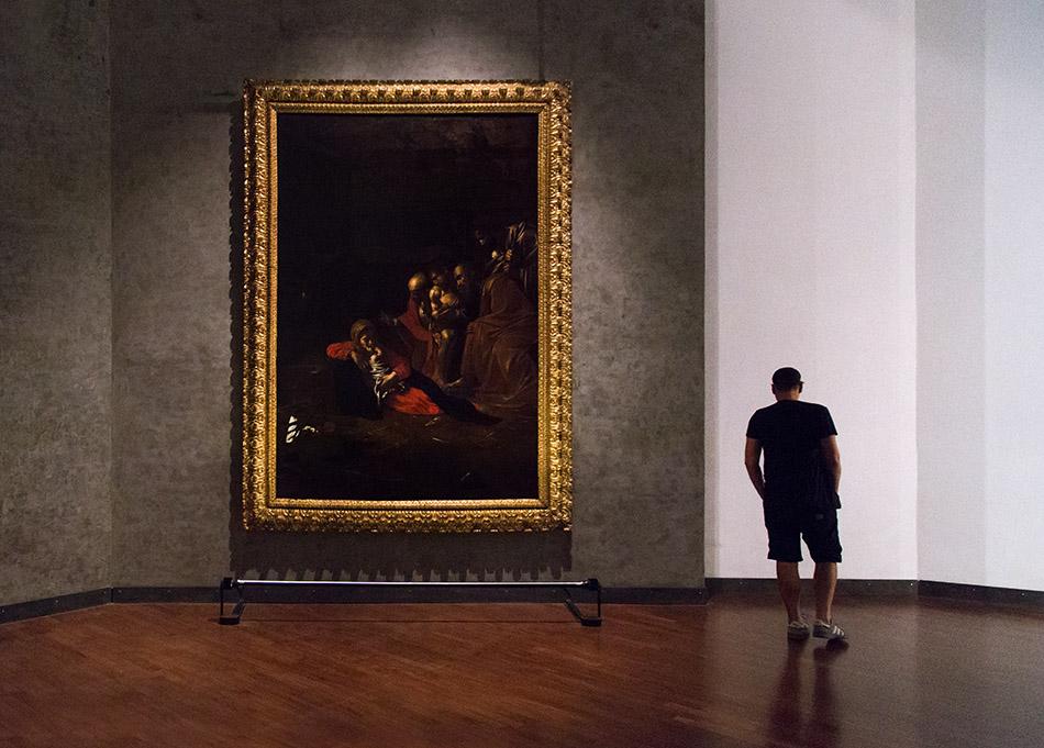 Fabian Fröhlich, Museo Regionale di Messina; Caravaggio, Anbetung der Hirten