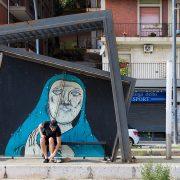 Fabian Fröhlich, Messina, Tram Station with Annunciation