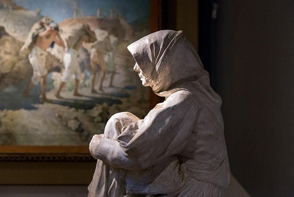 Fabian Fröhlich, Palermo, Galleria d'Arte Moderna; Frencesco Ciusa, La madre dell'uciso