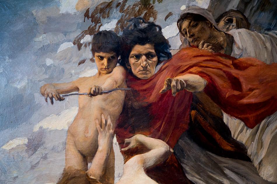 Fabian Fröhlich, Palermo, Galleria d'Arte Moderna; Ettore Tito, Amore e le Parche