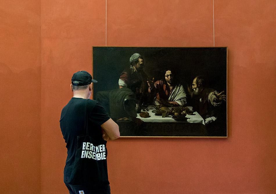 Fabian Fröhlich, Palermo, Galleria Regionale di Sicilia; Carvaggio, Cena in Emmaus (copy)