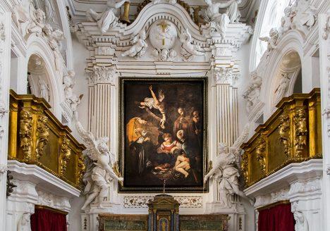 Fabian Fröhlich, Palermo, Oratorio di San Lorenzo; Caravaggio, Natività con i Santi Lorenzo e Francesco d'Assisi (replica)