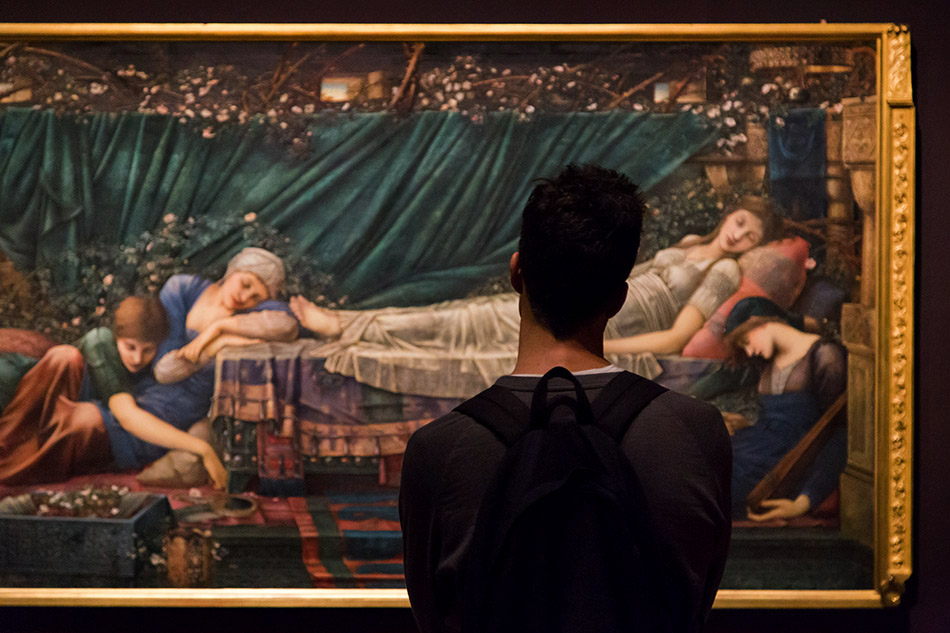 Fabian Fröhlich, Edward Burne-Jones exhibition, Tate Britain,Briar Rose / The Rose Bower