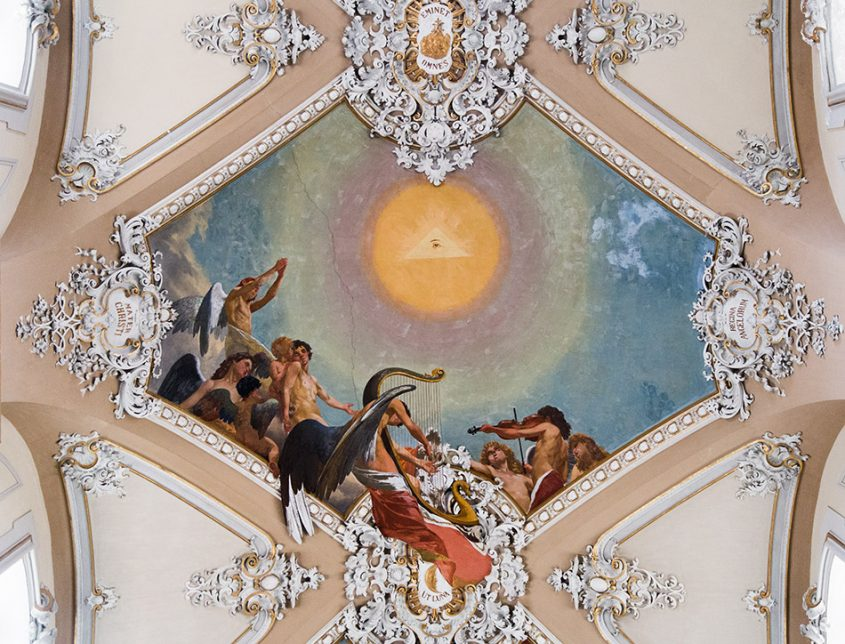 Fabian Fröhlich, Catania, Basilica della Collegiata (Ceiling fresco by Giuseppe Sciuti)