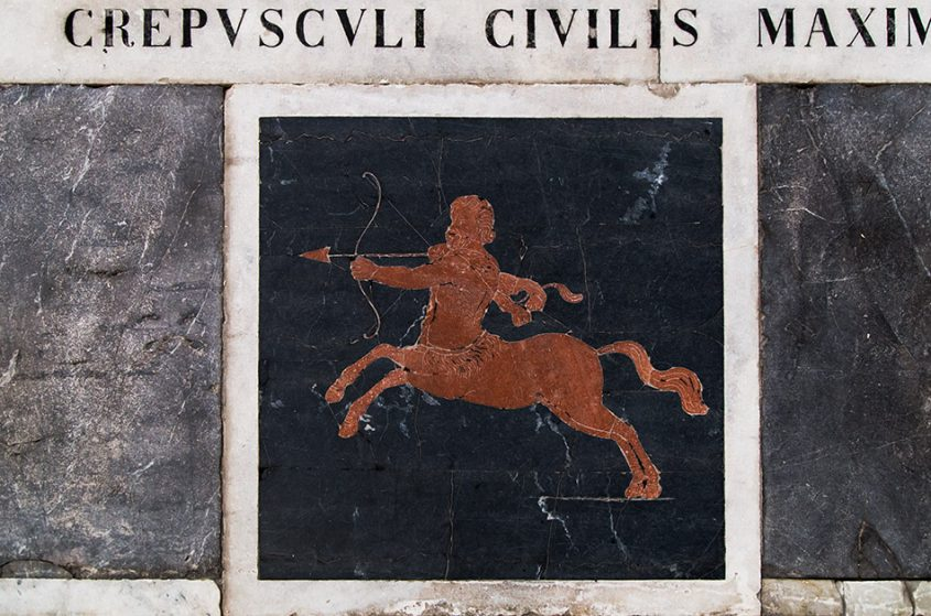 Fabian Fröhlich, Catania, Image of Sagittarius in the Meridian clock at San Nicolò