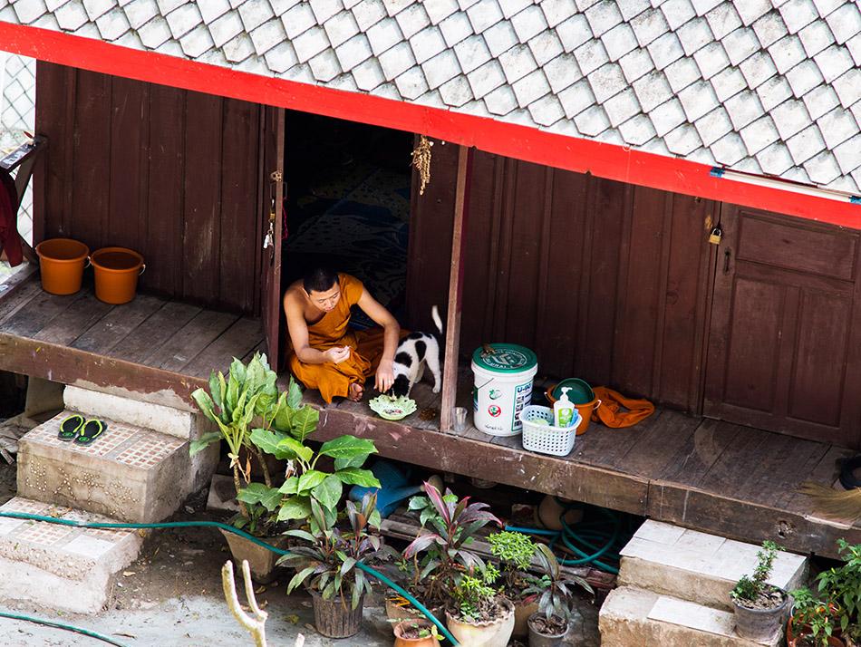 Fabian Fröhlich, Luang Prabang, Monk at Wat Tham Phou Si
