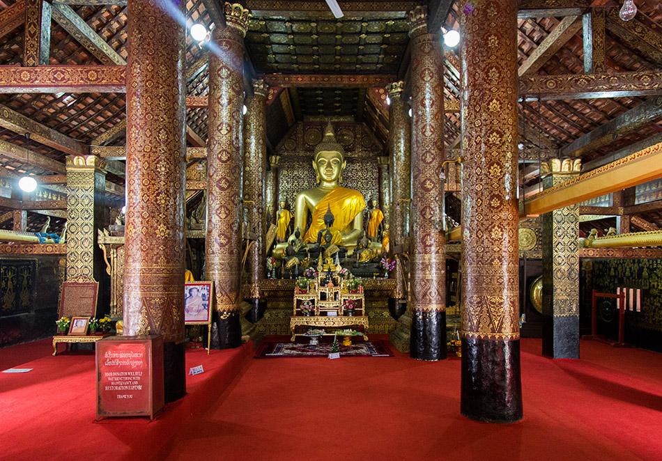 Fabian Fröhlich, Luang Prabang, Wat Xieng Thong, Wat Xieng Thong, Buddha in Sim
