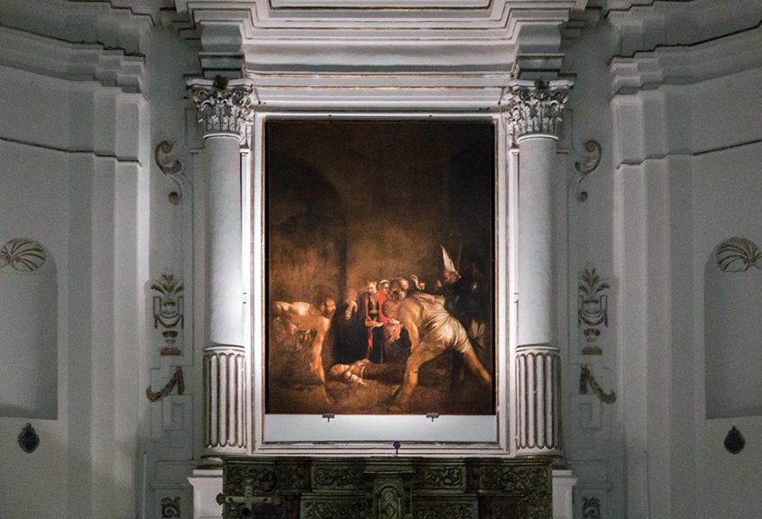 Fabian Fröhlich, Siracusa, Ortygia, Begräbnis der heiligen Lucia, Caravaggio at Santa Lucia alla Badia
