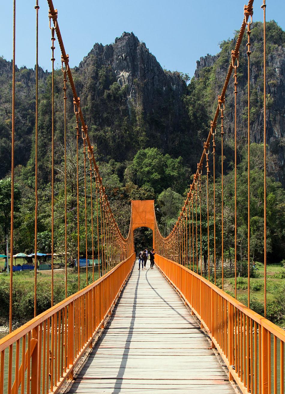 Fabian Fröhlich, Vang Vieng, Bridge to Tham Chang