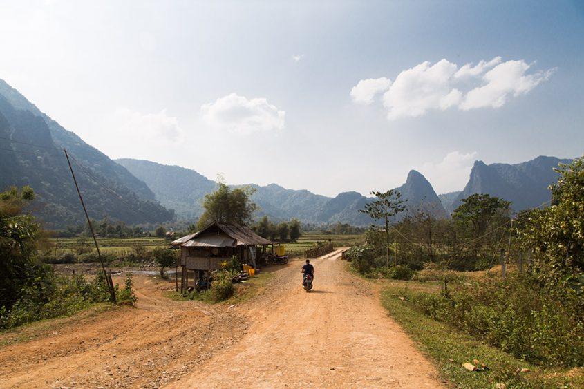 Fabian Fröhlich, Vang Vieng, West of Nam Song River