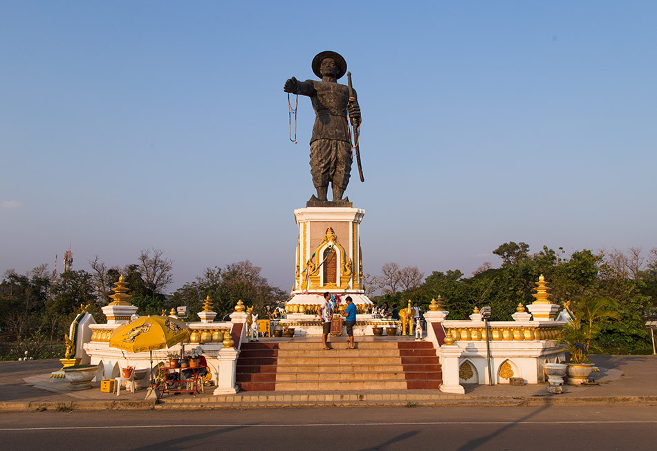 Fabian Fröhlich, Vientiane, Chao Anouvong Statue