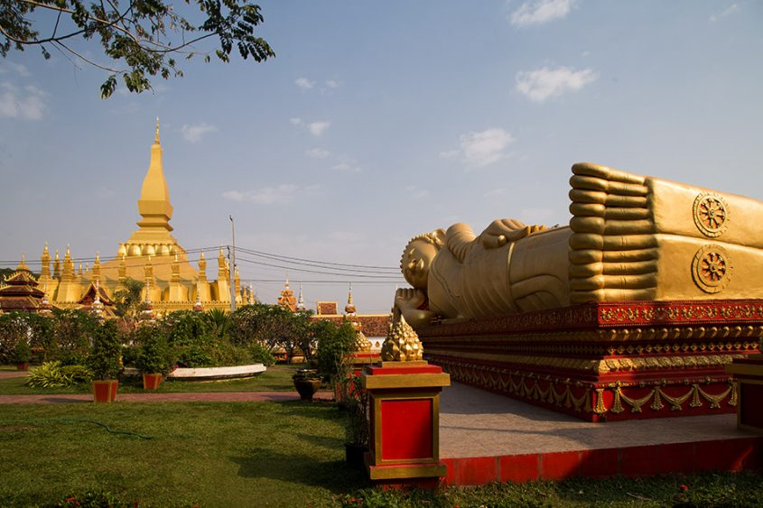 Fabian Fröhlich, Vientiane, Lying Buddha at Wat That Luang Tai