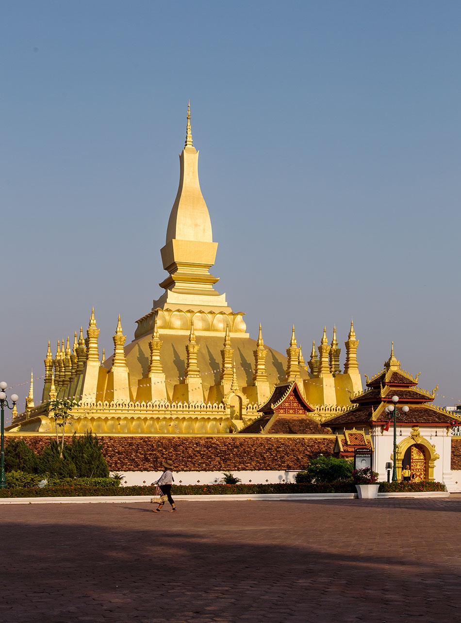 Fabian Fröhlich, Vientiane, That Luang