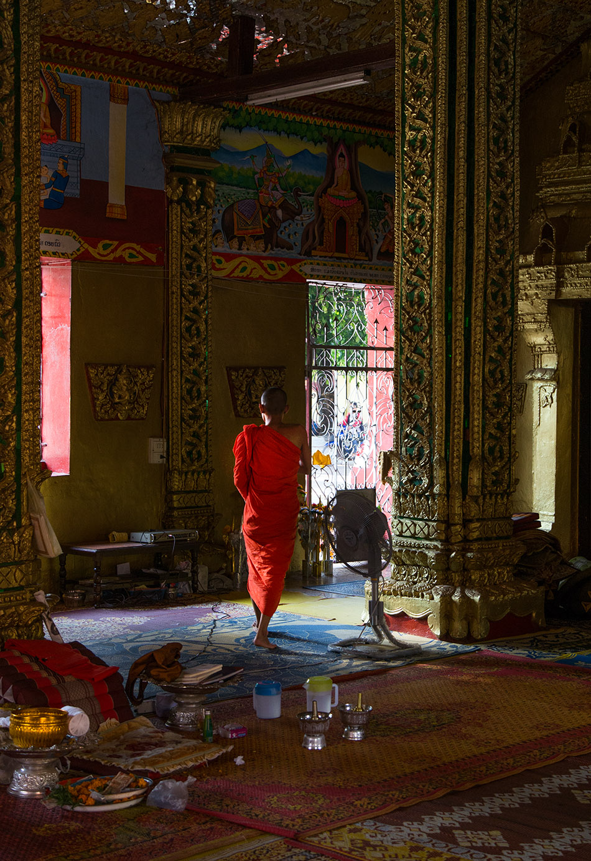 Fabian Fröhlich, Vientiane, Monk at wat Si Muang