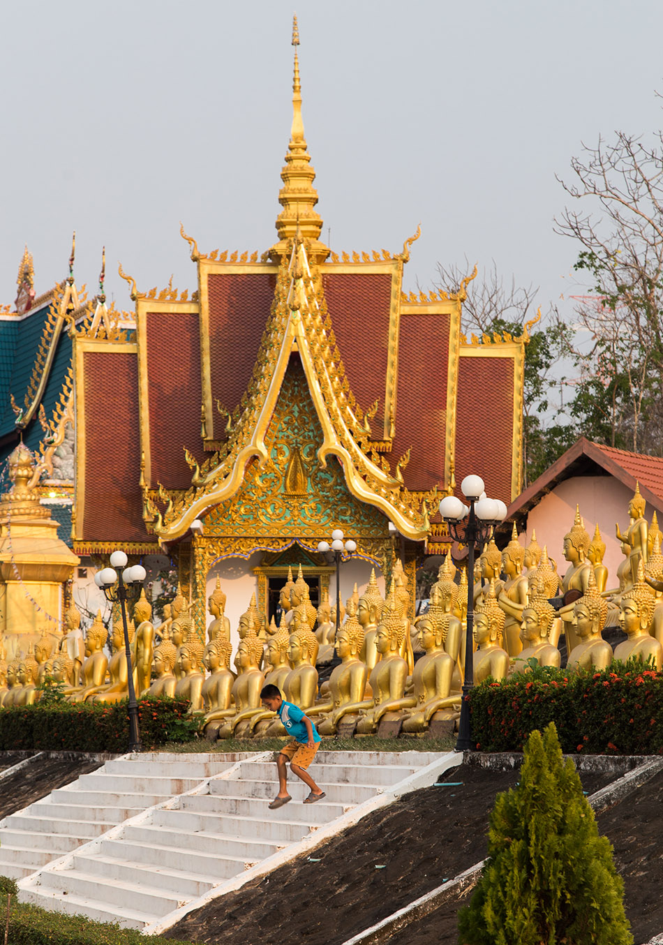 Pakse,Golden Buddha of Wat Phou Salao