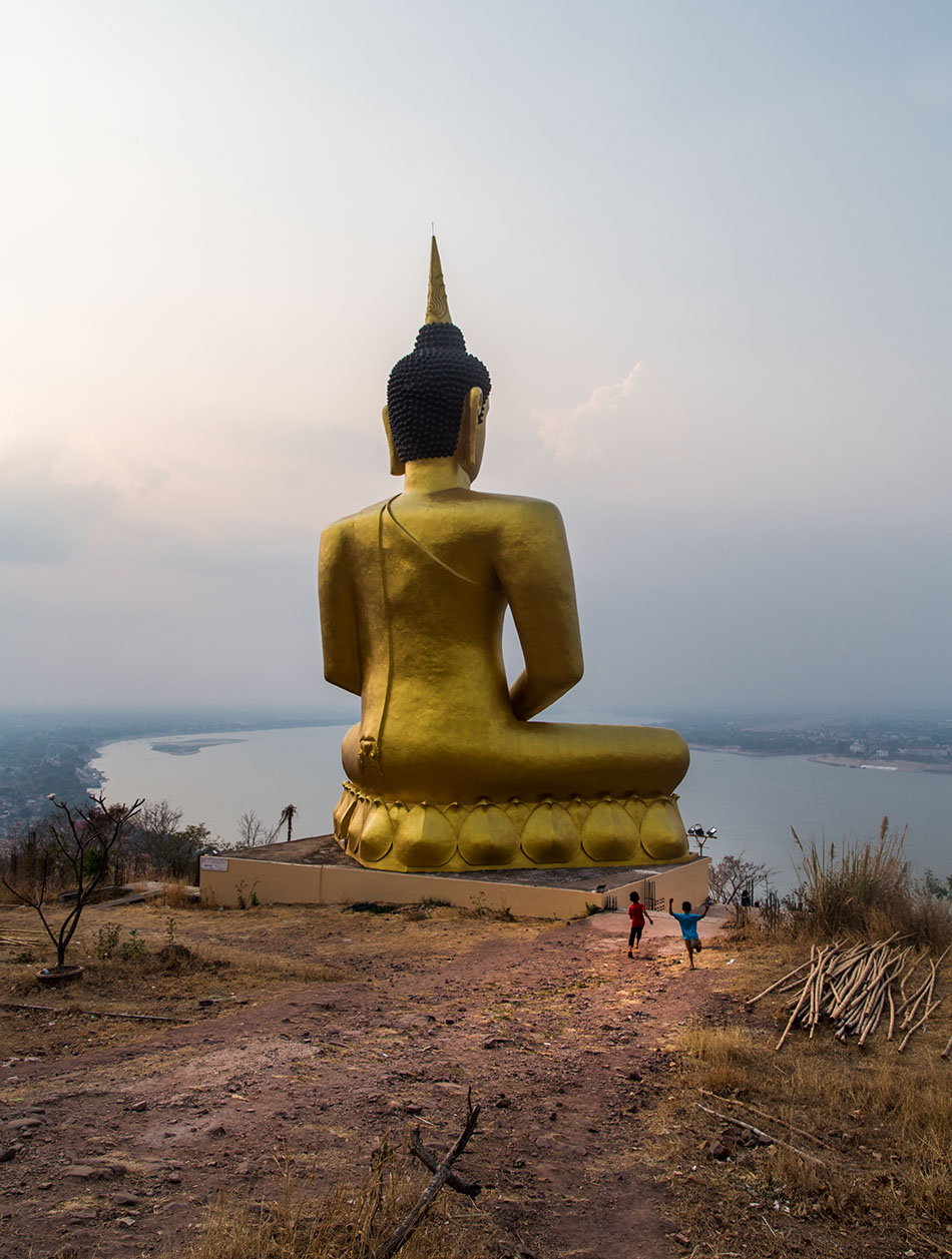Pakse, Golden Buddha of Wat Phou Salao