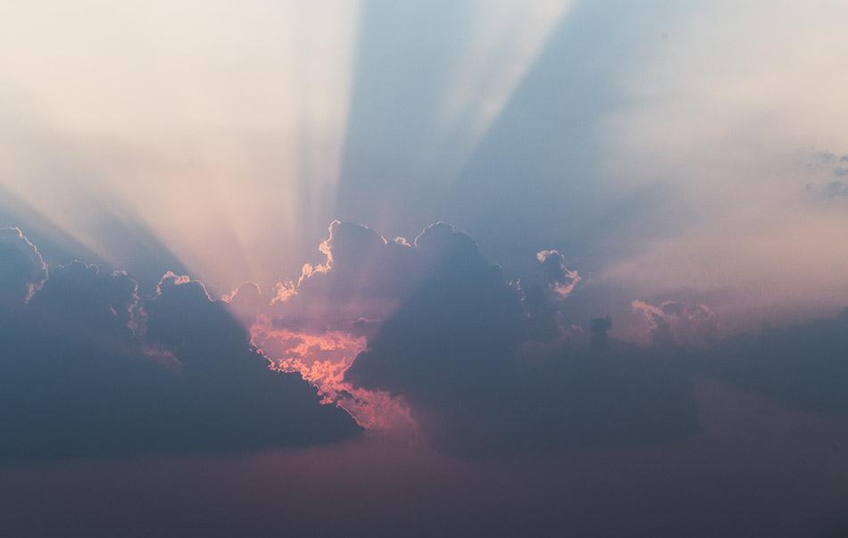 Pakxe, sunset