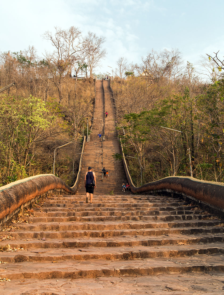 Pakse, Stairs to Phou Bachiang