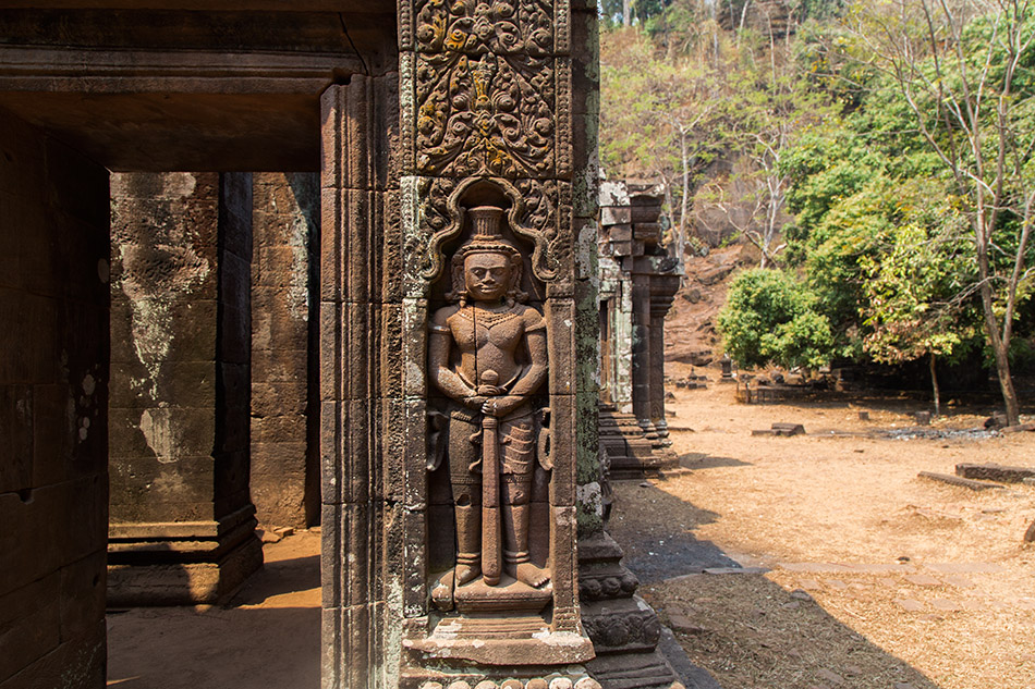 Fabian Fröhlich, Champasak, Vat Phou, Dvarapala at the sanctuary