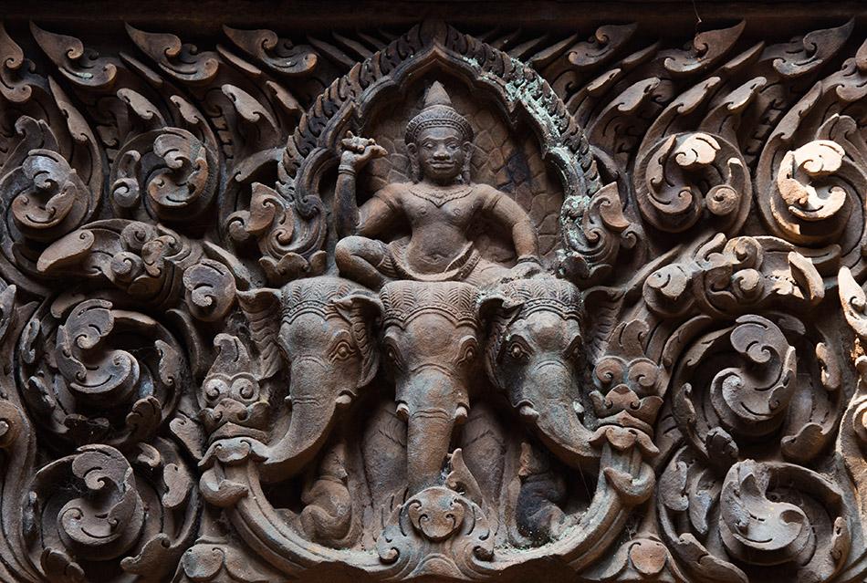 Fabian Fröhlich, Champasak, Vat Phou, Indra riding Airavata