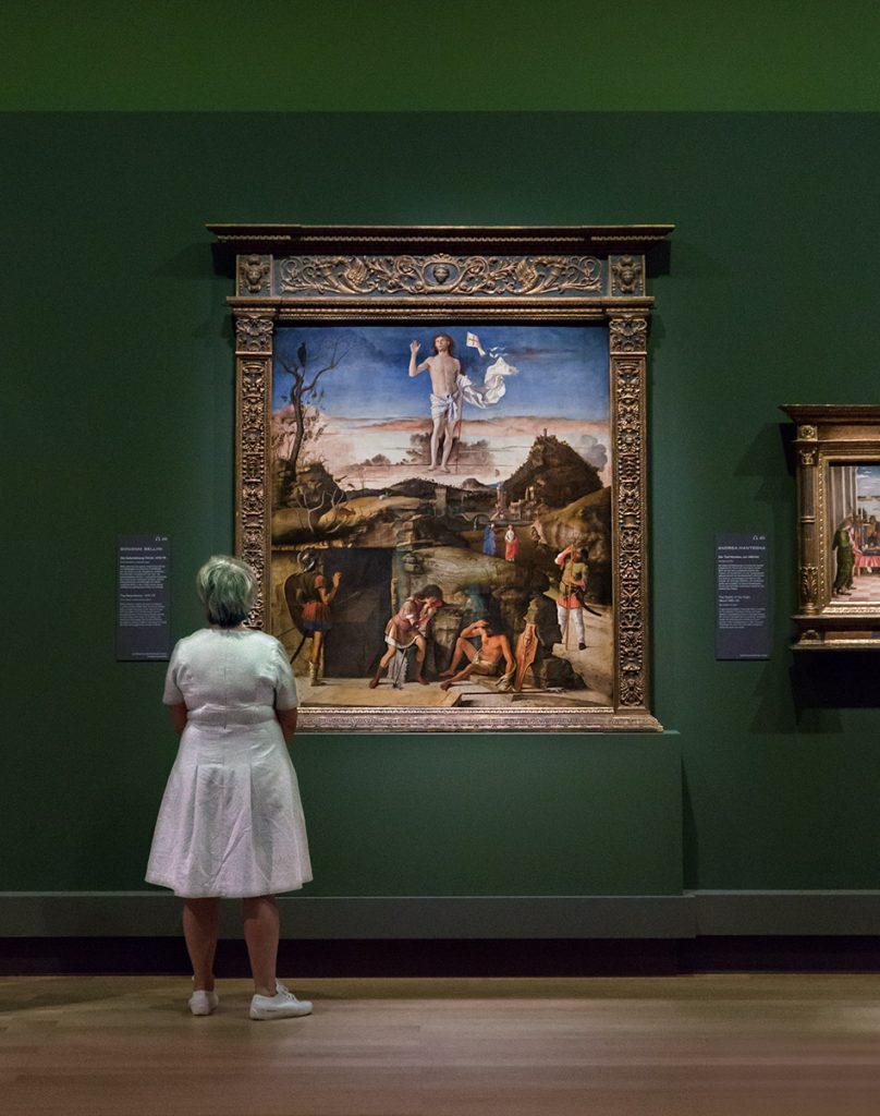Fabian Fröhlich, Berlin, Gemäldegalerie, Mantegna Bellini, Die Auferstehung Christi