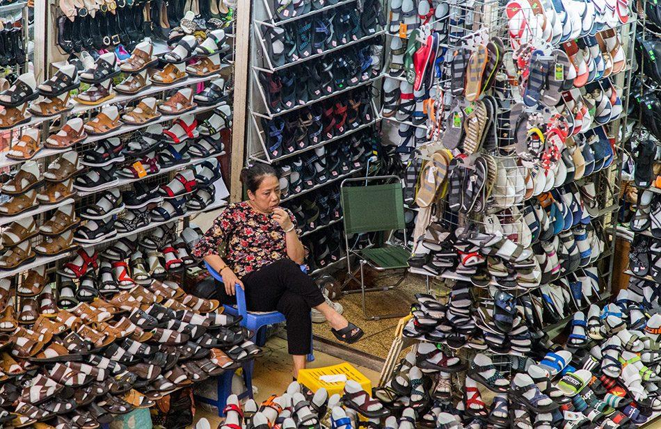 Hanoi, Old Quarter, Đồng-Xuân-Market