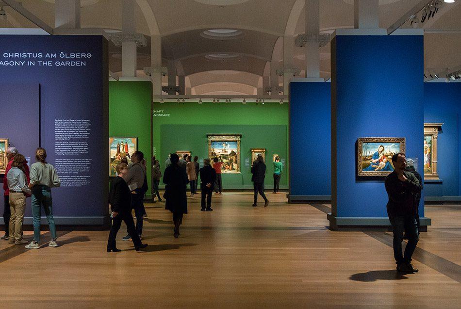 Fabian Fröhlich, Berlin, Gemäldegalerie, Mantegna Bellini, Ausstellungsansicht