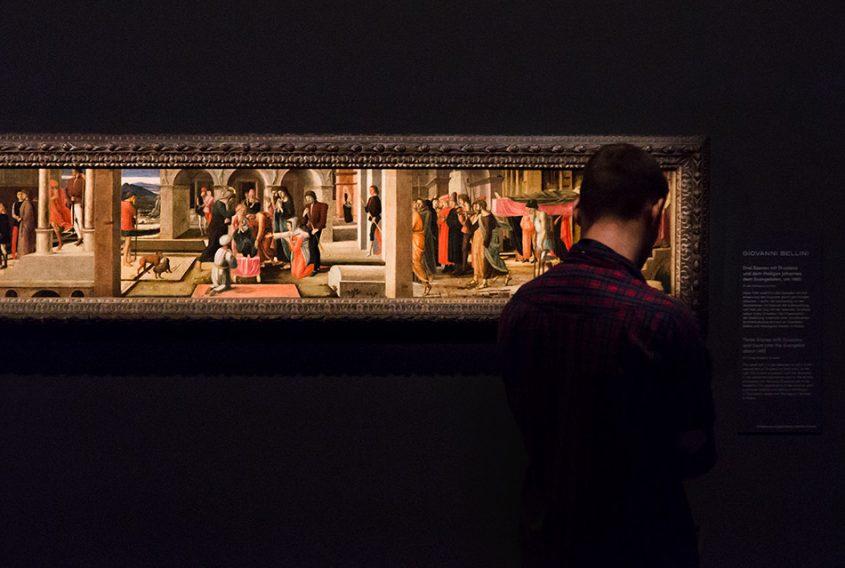 Fabian Fröhlich, Berlin, Gemäldegalerie, Mantegna Bellini, Three Stories of Drusiana and Saint John the Evangelist